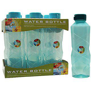Gpet Fridge Water Bottle Poppy 1 Ltr Sea Green Set Of 6