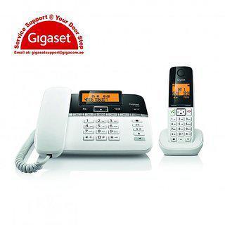 Gigaset C330 Corded Cordless Combo Landline Phone Black White