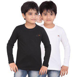 Dongli Boys Marvellous Full Sleeve T-shirt (pack Of 2)dlf450_black_white