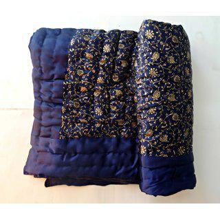 Krg Enterprises Jaipuri Razai Rajai Cotton Blanket Comforter Single Beded Mym1004