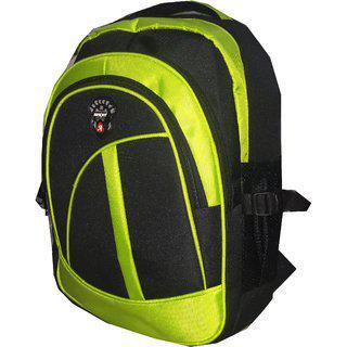 Apnav Black & Green Waterproof Polyester Backpack