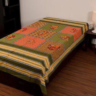 Chokor Jaipuri Cotton Single Bedsheet Without Pillows(r1swp005)