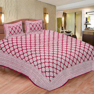 Chokor Jaipuri Cotton Double Bedsheet(r2s091)