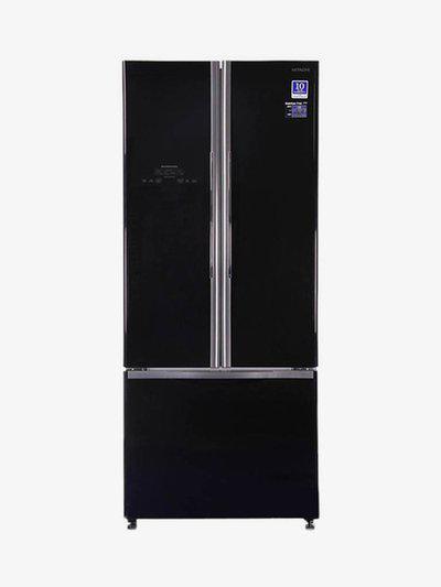 Hitachi 510 L Frost Free Triple Door Refrigerator (Black, R-WB550PND2)