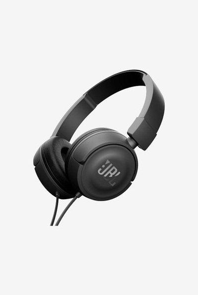 JBL T450 On the Ear Headphone with Microphone (Black)