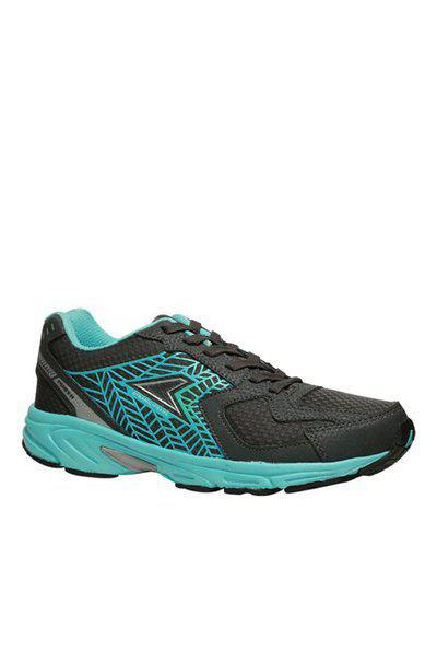 Power Burton Black & Turquoise Running Shoes