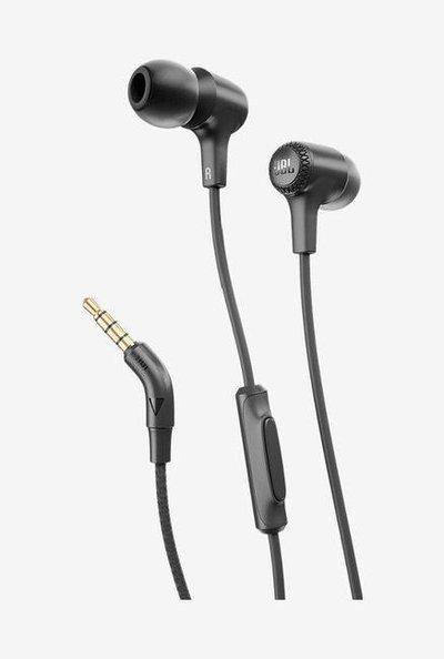 JBL E15 WMic In The Ear Earphones (Black)
