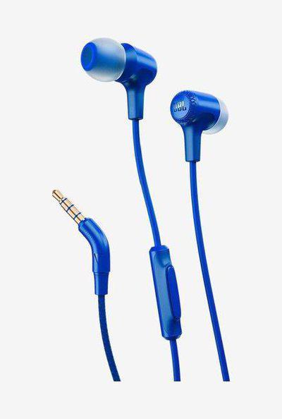 JBL E15 WMic In The Ear Earphones (Blue)