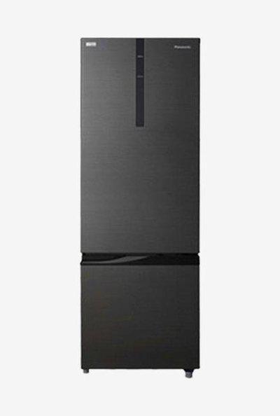 Panasonic 342L 2 Star Frost Free Double Door Refrigerator (Black, NR-BR347RKX1)