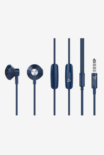 Syska H010 Wired Earphones With Mic (Blue)