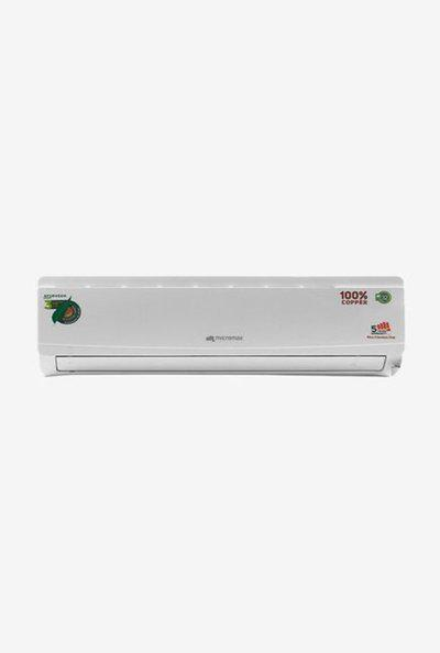 Micromax 1.0 Ton 3 Star Copper (BEE Rating 2018) Ayurveda ACS12C3A3QS2WH Split AC (White)