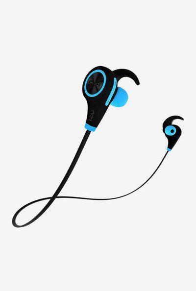 Leaf Deep Bass Bluetooth Earphones with Mic (Blue)