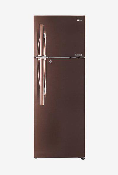 LG 308 L Inverter 4 Star Frost Free Double Door Refrigerator (Amber Steel, GL-T322RASN)