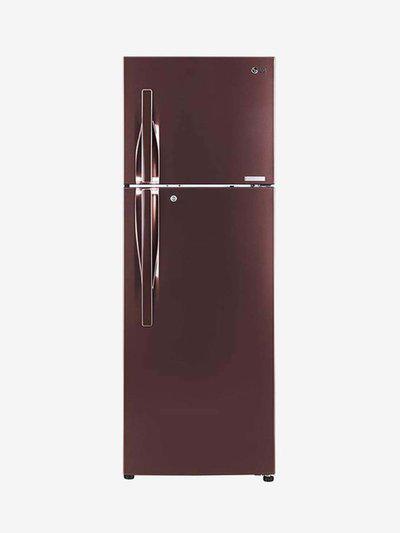 LG 360 L Inverter 4 Star Frost Free Double Door Refrigerator (Amber Steel, GL-T402JASN)