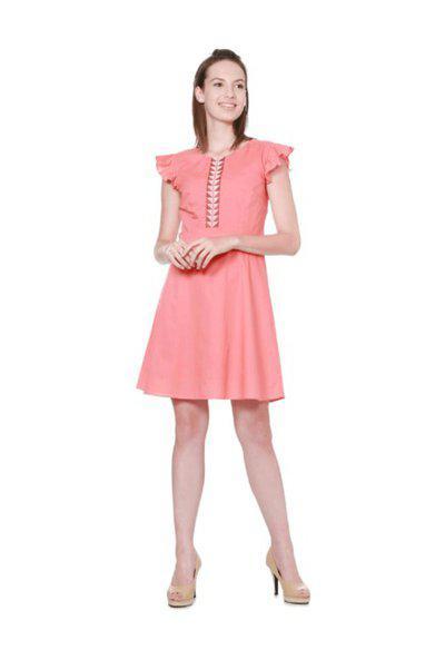 Allen Solly Women A-line Orange Dress