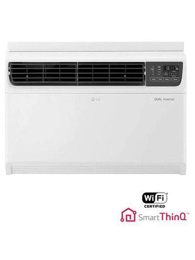 LG 1.5 Ton Inverter 5 Star Copper JW-Q18WUZA Window AC (White)