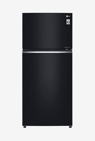 LG 547 L Inverter 3 Star Frost Free Double Door Refrigerator (Black, GN-C702SGGU)