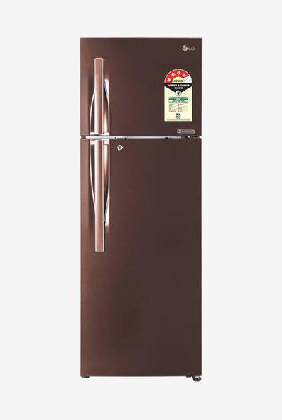 LG GL-T302RASN 284 L Inverter 4 Star Frost Free Double Door Refrigerator (Amber Steel)