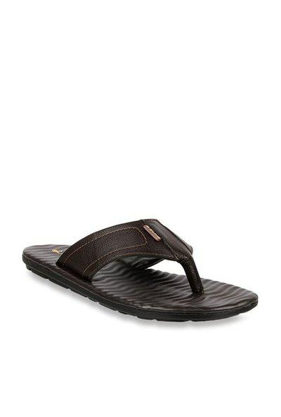 Duke Men Black & Charcoal Grey Striped Sports Sandals