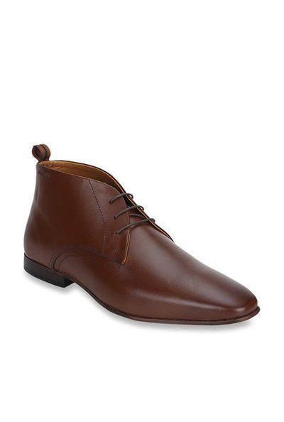 Red Tape Men Brown Derby Formal Shoes - RTE118