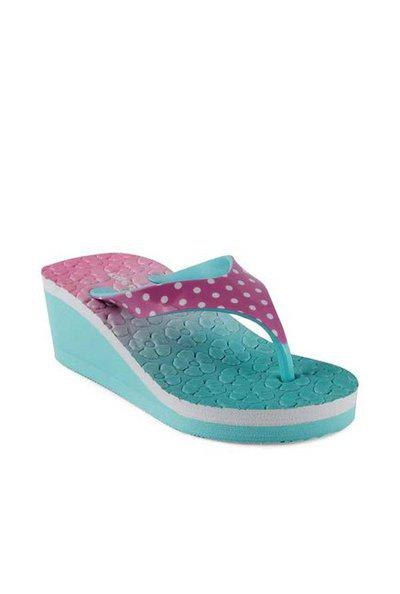 Kittens Kids Blue & Pink Synthetic Leather Flip Flops