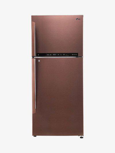 LG GL-T432FASN 437 L Inverter 4 Star Frost Free Double Door Refrigerator (Amber Steel)