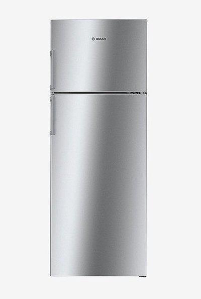Bosch 347 L Inverter 4 Star Frost Free Double Door Refrigerator (Chrome Inox Metallic, KDN43VL40I)