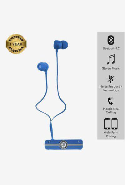 Portronics Harmonics 206 Por 836 Wireless Earphone (Blue)