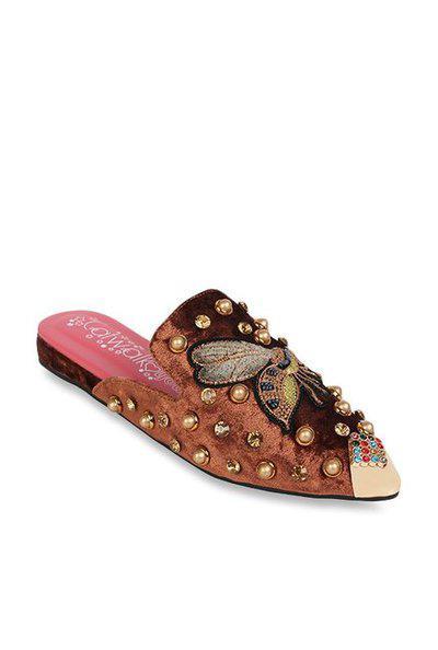 Catwalk Womens Casual Wear Slipon Flats_brown_6