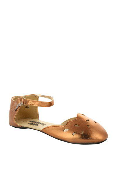 Willywinkes Kids Bronze Ankle Strap Sandals