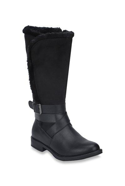 Truffle Collection Women's Black Boots-5 Uk/india (38 Eu) (tc-aao70-blkpu-05)