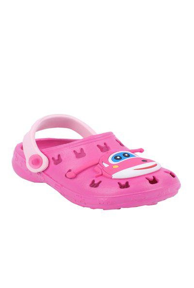 Yellow Bee Kids Pink Back Strap Clogs