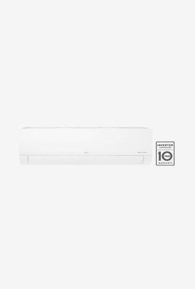 LG 1.5 Ton Inverter 5 Star Copper (2019 Range) KS-Q18ENZA Split AC (White)
