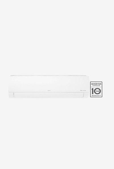 LG 1.0 Ton Inverter 5 Star Copper (2019 Range) KS-Q12HNZD Split AC (White)