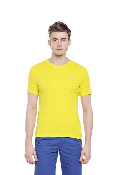 Ajile By Pantaloons Men Round Neck Sports T-shirtYellow