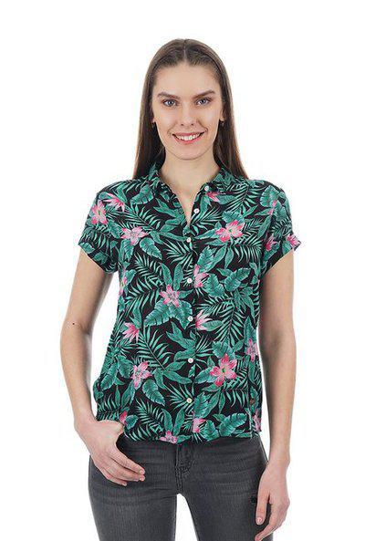 Pepe Jeans Women Regular Fit Floral ShirtBlack