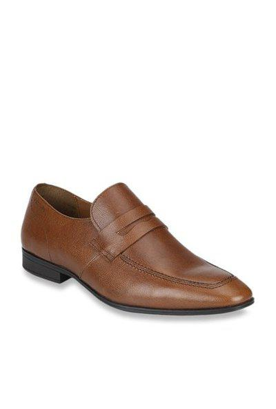 Red Tape Leather Moccasins Slip On For Men(Brown)