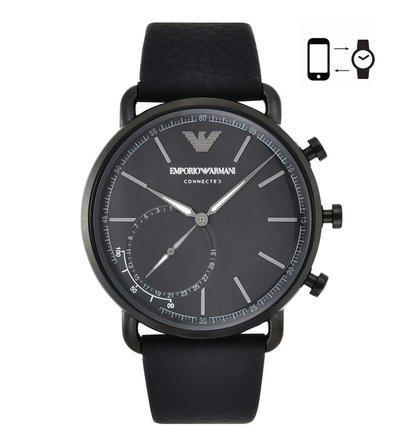 Emporio Armani ART3030 Black Aviator Smart Watch For Men