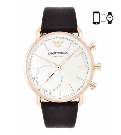 Emporio Armani ART3029 White Aviator Smart Watch For Men