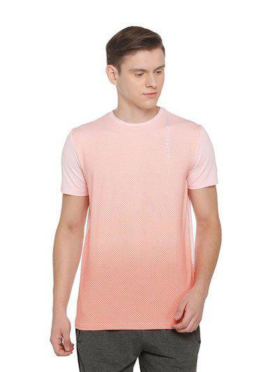 Solly Sport By Allen Solly Light Pink Regular Fit T-Shirt