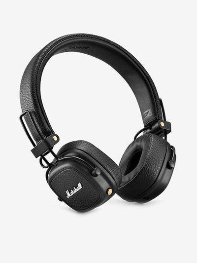 Marshall Major III On The Ear Wireless Bluetooth Headphone with Mic (Black)