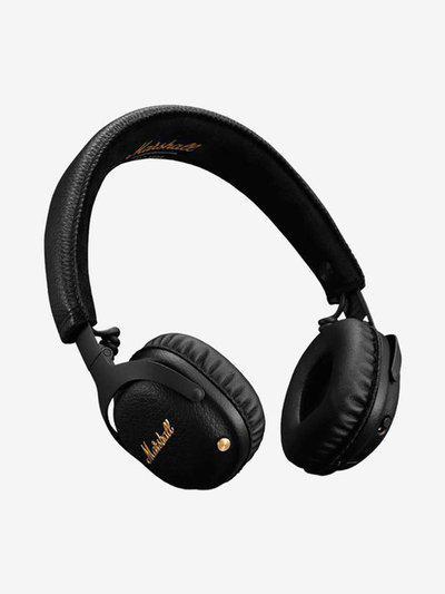 Marshall Mid ANC On The Ear Wireless Bluetooth Headphone with Mic (Black)