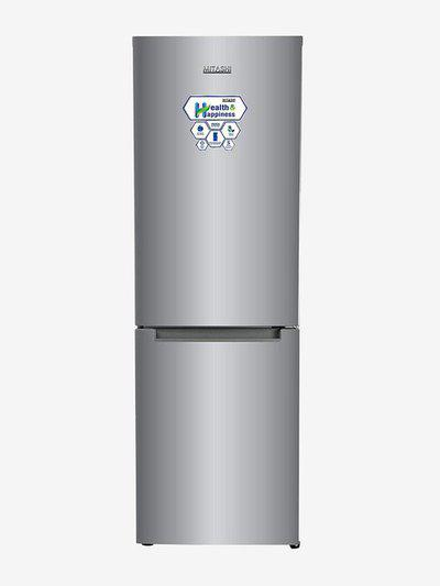 Mitashi 345 L 2 Star Frost Free Double Door Bottom Mount Refrigerator (Silver, MiRFBMF2S345v20)