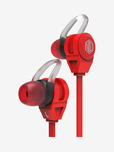 Nu Republic Jaxx M Wired Earphones with Mic (Red)