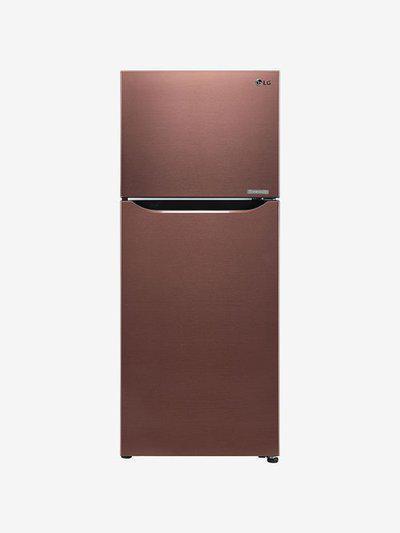 LG 260 L Inverter 4 Star Frost Free Double Door Refrigerator (Amber Steel, GL-C292SASX)