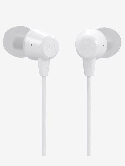 JBL C50HI In-Ear Headphones with Mic (White)