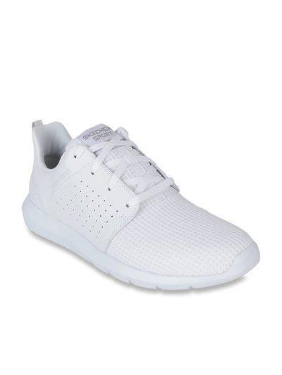 Skechers Foreflex White Running Shoes