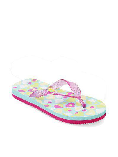 Kittens Kids Green & Pink Flip Flop