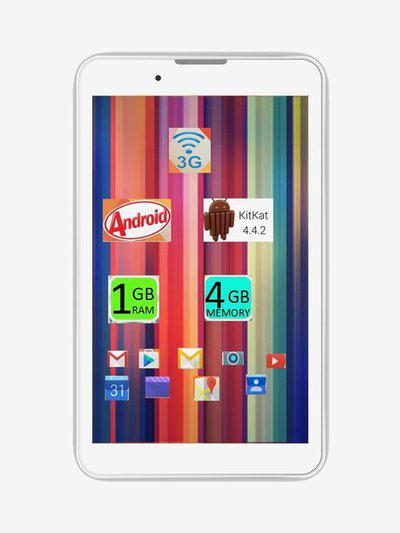 I Kall IK1 Tablet (7 inch, 1GB RAM, 8GB, Wi-Fi plus 3G, Voice Calling) White