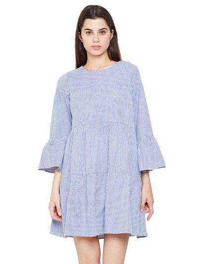 Oxolloxo Blue Striped Havana Glam Girl Dress